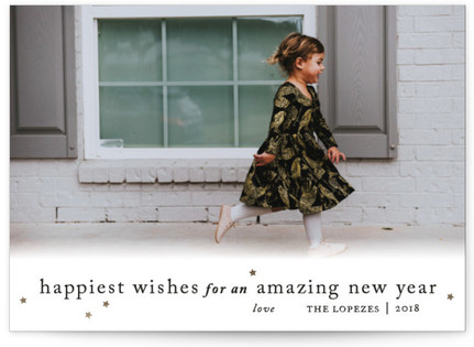 Happiest Wishes to You New Year's Photo Cards