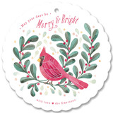 Red Cardinal Holiday Ornament Cards