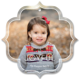 Etched Border Holiday Ornament Cards