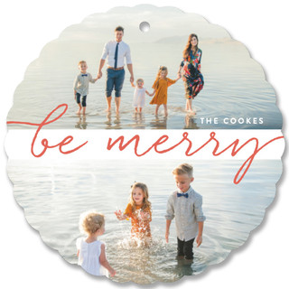 Double Merry Holiday Ornament Cards