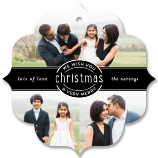 Christmas Collage Holiday Ornament Cards