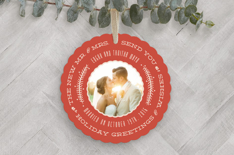 Very Married Holiday Ornament Cards