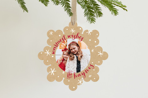 Snowflake Wishes Holiday Ornament Cards