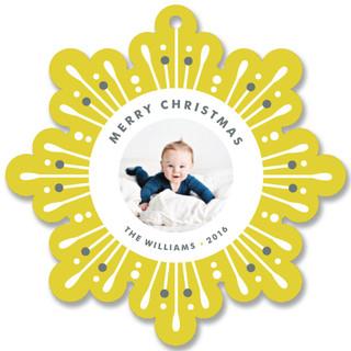 Glitzy Flake Holiday Ornament Cards