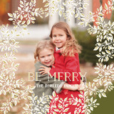 Merry Little Florals Holiday Ornament Cards