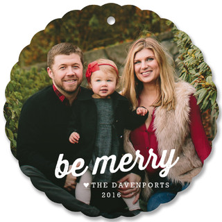 Merry And Light Holiday Ornament Cards