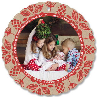 Merry Botanticals Holiday Ornament Cards