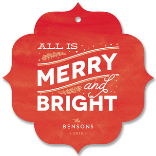 Merry Bright Holiday Ornament Cards