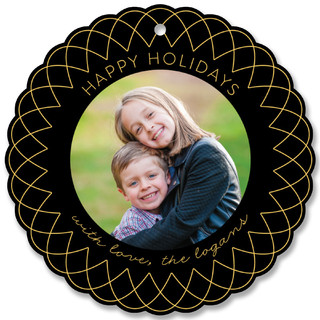 Radiant Beams Holiday Ornament Cards