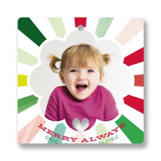Kaleidoscope Holiday Ornament Cards