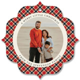All in Plaid Ornament by Factory Made