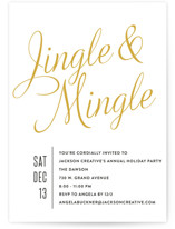Jingle Mingle Holiday Party Invitations
