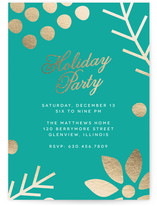 Gilded Botanicals Holiday Party Invitations