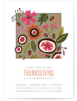 Modern Quilt Holiday Party Invitations