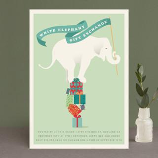 The White Elephant Holiday Party Invitations