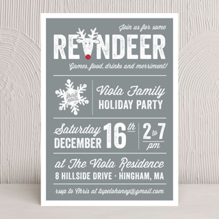 Reindeer Games Holiday Party Invitations