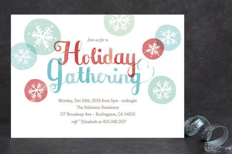Holiday Snowflakes Holiday Party Invitations
