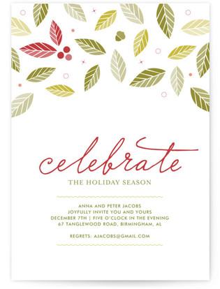 Holly Jolly Holiday Party Invitations
