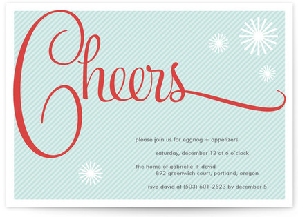 Cheers to You Holiday Party Invitations