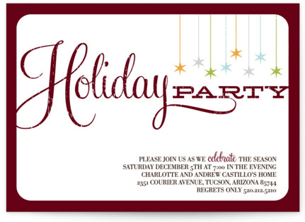 Retro Party Holiday Party Invitations