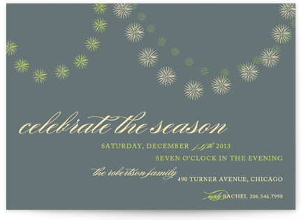 Celebrate the Season Holiday Party Invitations