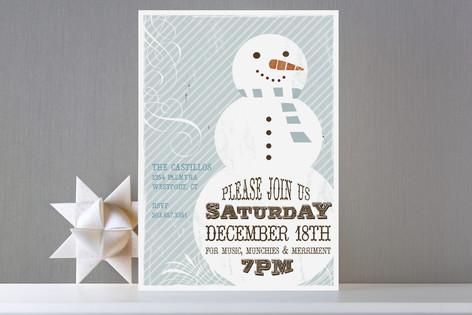 Retro Snowman Holiday Party Invitations