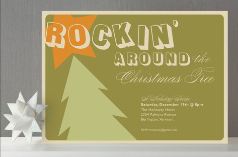 Rockin' Holiday Party Invitations