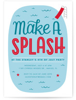Make A splash Holiday Party Invitations