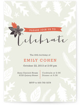 Fall Foliage Holiday Party Invitations