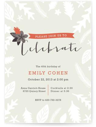 Fall Foliage Holiday Party Invitations