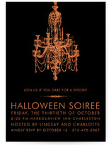 Halloween Chandelier Holiday Party Invitations