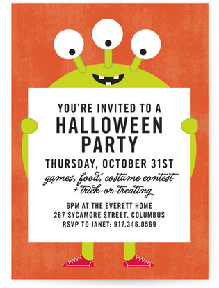 Mr. Monster Holiday Party Invitations