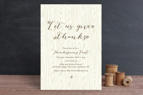 Harvest Table Holiday Party Invitations
