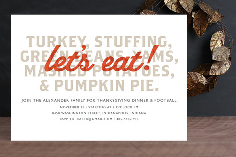 Let's Eat Holiday Party Invitations