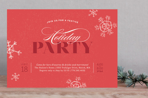 Krafted Winter Holiday Party Invitations