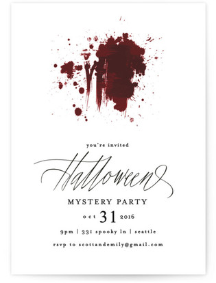 Mystery Holiday Party Invitations