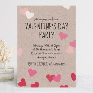 Valentine's Ombre Love Holiday Party Invitations