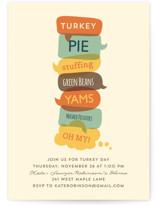 Turkey Day Menu