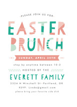 Patterned Easter Holiday Party Invitations