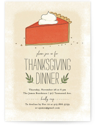 Pumpkin Pie Holiday Party Invitations