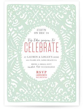 Cutout Christmas Celebration Holiday Party Invitations