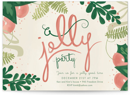 A Jolly Party Holiday Party Invitations