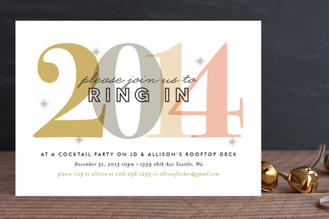 Modern Edge Holiday Party Invitations