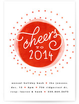 Pop of Cheer Holiday Party Invitations