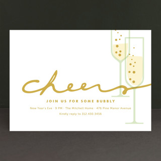 Time for Bubbly Holiday Party Invitations