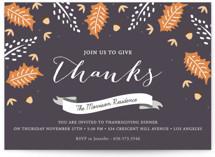 Autumn Foliage Holiday Party Invitations