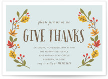 Giving Thanks Holiday Party Invitations