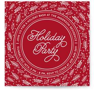 Decorative Party Holiday Party Invitations