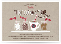 Hot Cocoa Bar Holiday Party Invitations