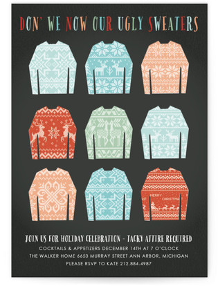 Christmas Sweater Holiday Party Invitations